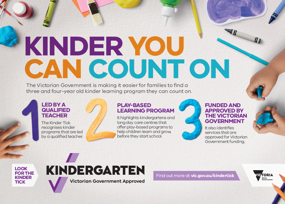 Department of Education and Training – Kinder Tick